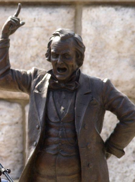 Stephen Douglas statue in Alton, Ill., at site of last Lincoln-Douglas debate.