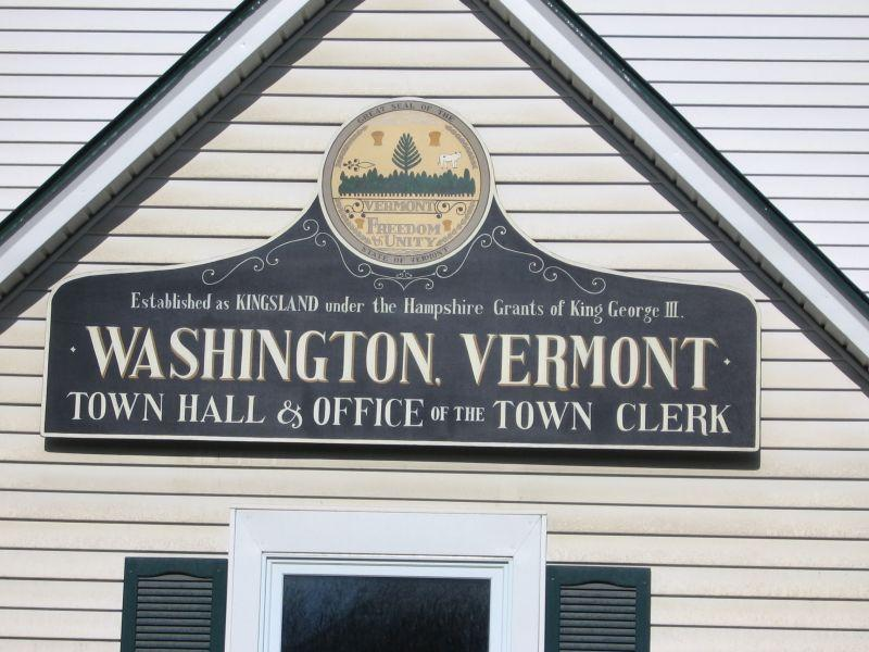 The town of Washington is in Orange, not Washington County.