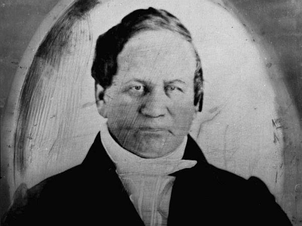 This is a circa 1840 photo of Alexander Twilight. Twilight was the first African-American to earn a college degree in the United
