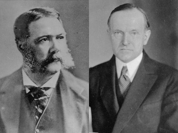 Vermont-born Presidents Chester A. Arthur and Calvin Coolidge.