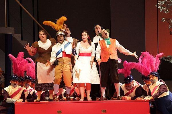 """A scene from the Houston Grand Opera's production of Rossini's """"Il barbiere di Siviglia"""""""