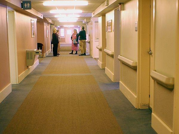 In this 2005 file photo, doctors and nurses talk in the hallway of the Adult Treatment Center at the Brattleboro Retreat in
