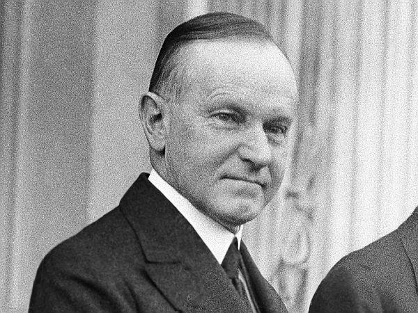 Thirtieth U.S. President Calvin Coolidge.