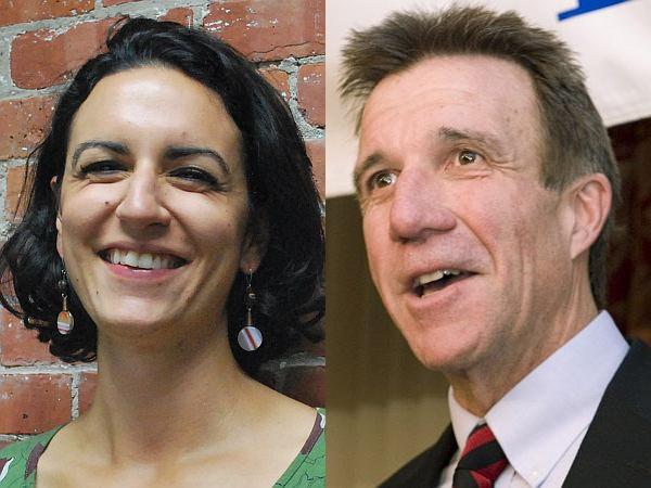 Lt. Governor Phil Scott, left, and Progressive/Democrat Cassandra Gekas.