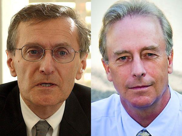 State Auditor candidates Republican Vince Illuzzi (left) and Democrat/Progressive Doug Hoffer (right).