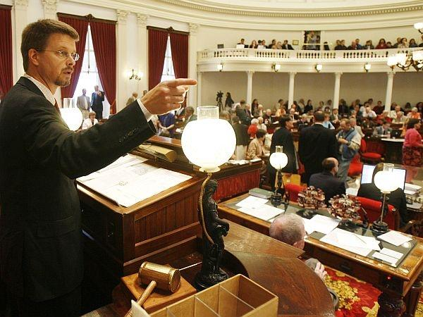 Speaker Shap Smith oversees a Democratic supermajority in the Vermont House.