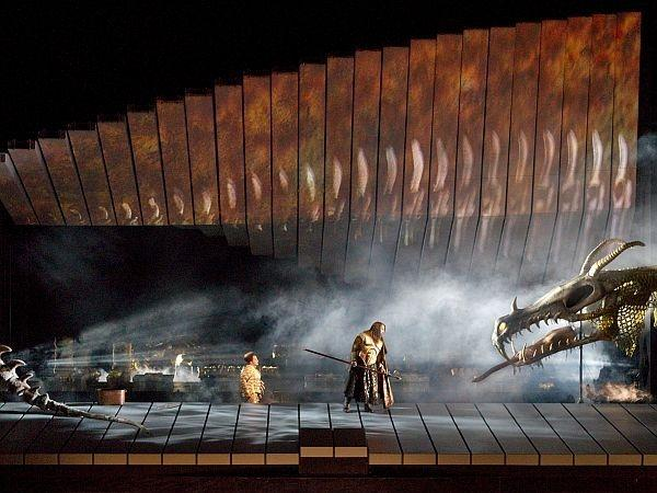 "Robert Lepage's Met production of ""Das Rheingold"""