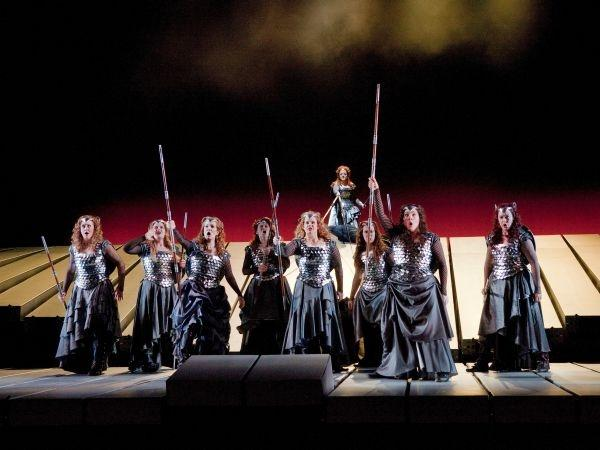 "The Valkyries in Act 3 of Wagner's ""Die Walküre."""