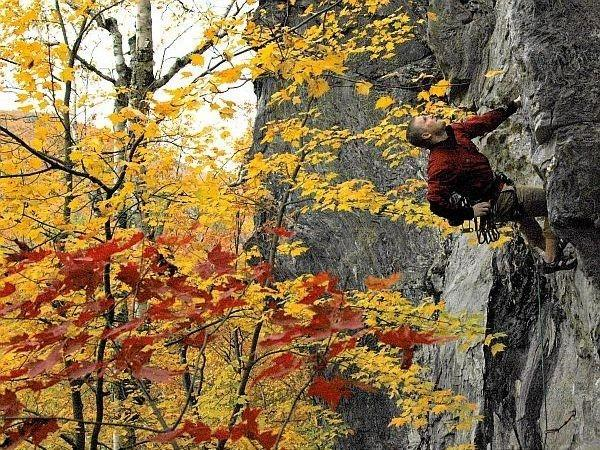 Rock climbing is becoming more popular in Vermont now that established routes are better publicized.