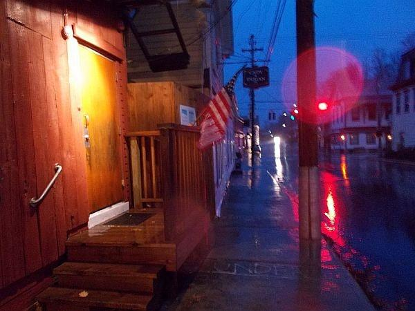 Wilmington as the rain and wind from Sandy started to hit the state.