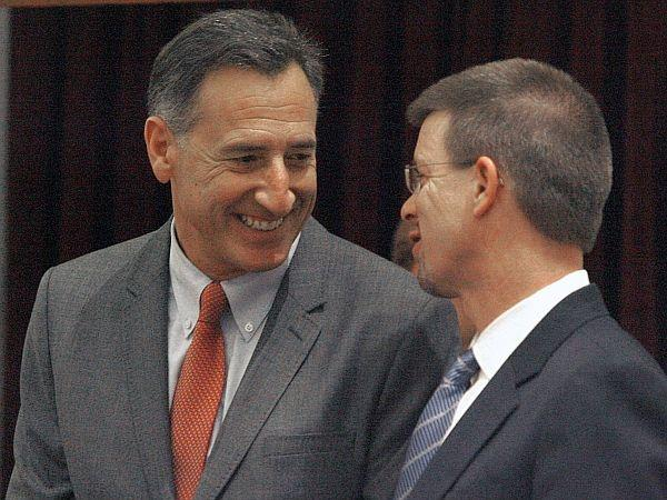 House Speaker Shap Smith with Governor Peter Shumlin.