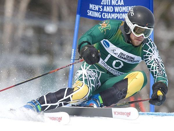 UVM skier Kevin Drury competes in the giant slalom during the 2011 NCAA Championships in Stowe.