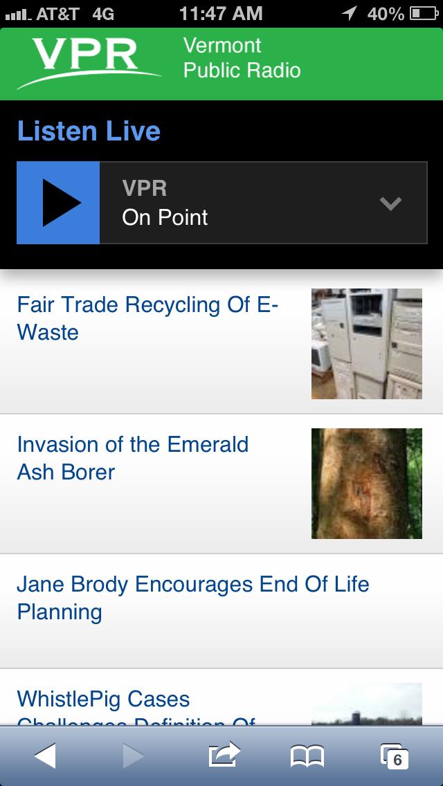 VPR news mobile