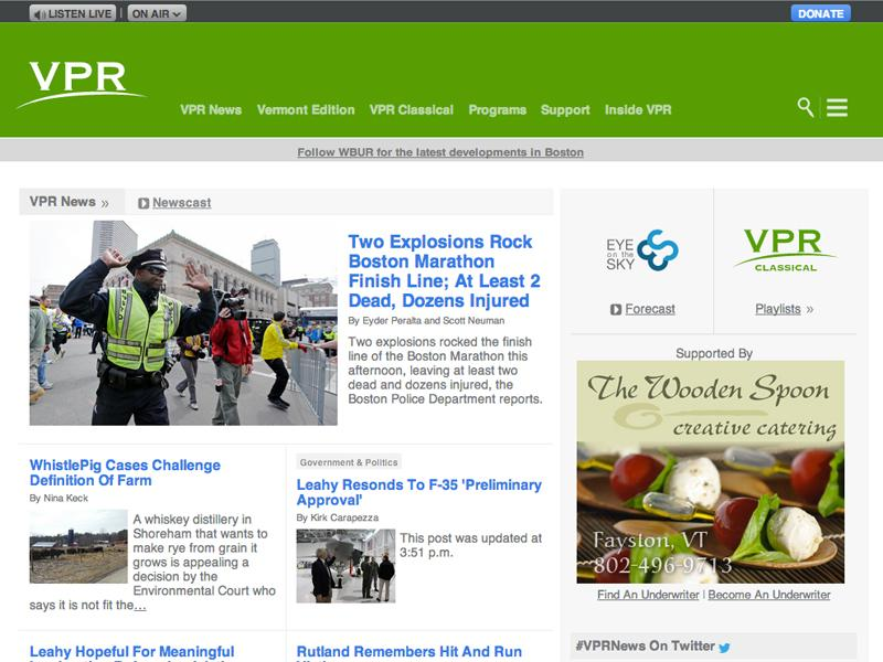 The new VPR.net responsive homepage