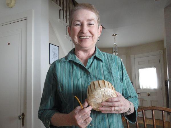 Jeanne Brink now teaches basket weaving skills that she learned as part of the the Vermont Folklife Center's Traditional Arts Apprenticeship Program