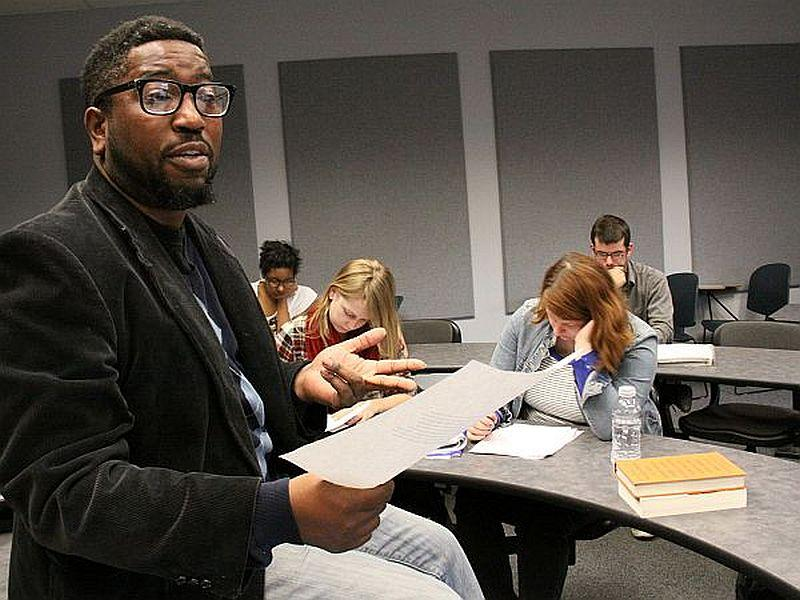 Professor Major Jackson says poetry is an invitation for students to slow down.