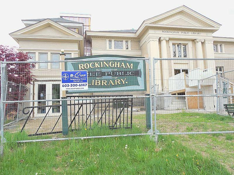 The Rockingham library is under renovation.