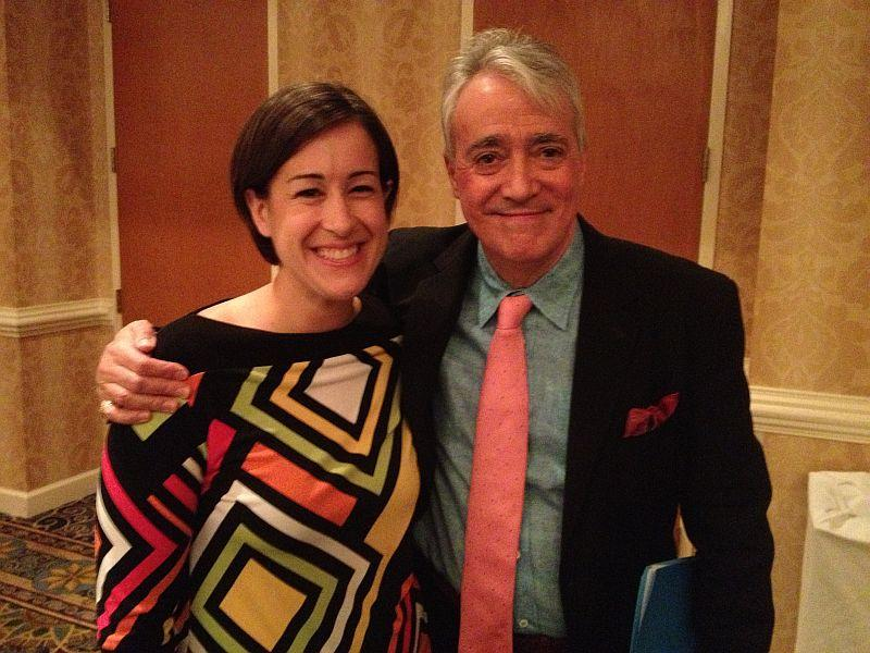 Vermont Edition Managing Producer Patti Daniels with NPR's Weekend Edition Host Scott Simon