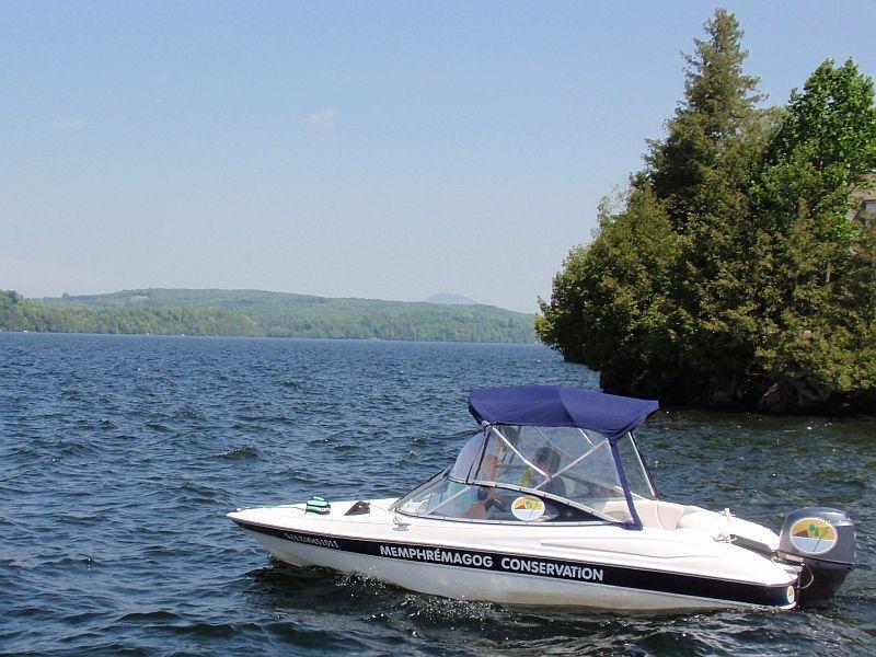 The Memphremagog Conservation patrol boat