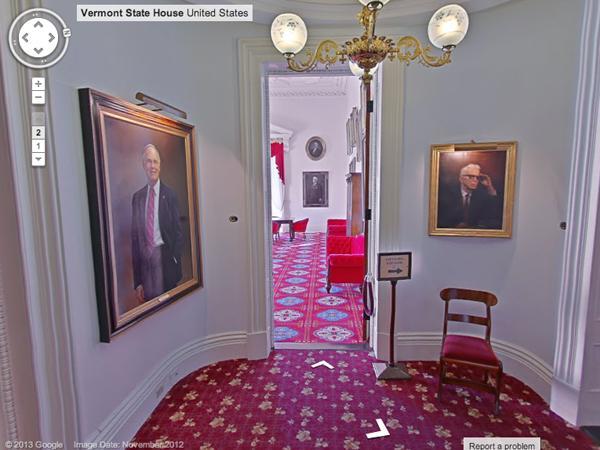 google unveils interior street view of vermont statehouse