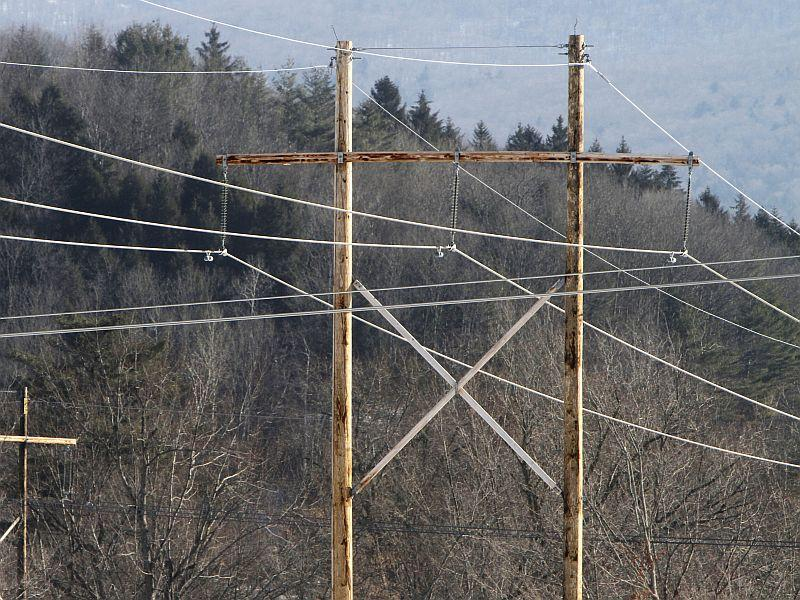 Vermont Electric Power Company transmission lines are seen in the February 2012 photo in Waterbury.