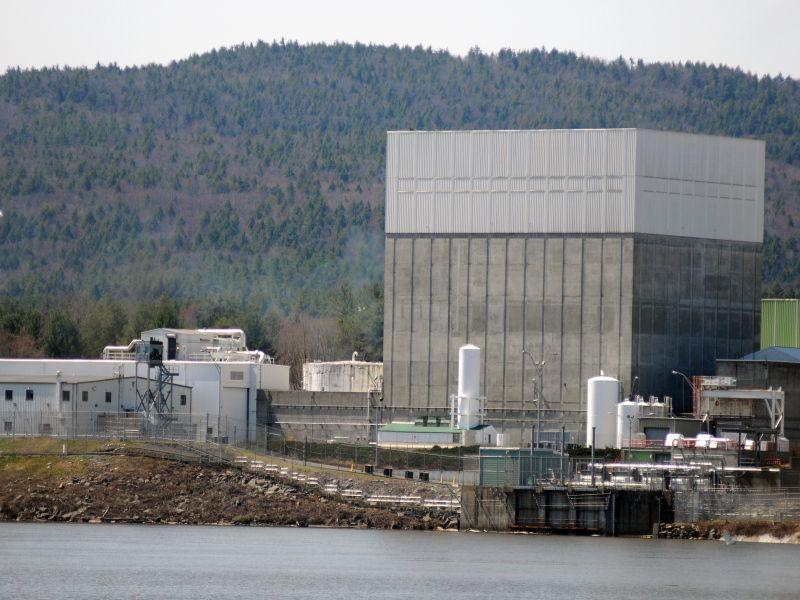 The Vermont Yankee nuclear power plant on the banks of the Connecticut River in Vernon is seen on Monday April 18, 2011.