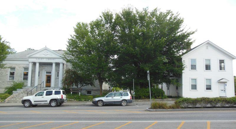 If approved a new town office would be built next to the library and the existing Middlebury College building moved elsewhere