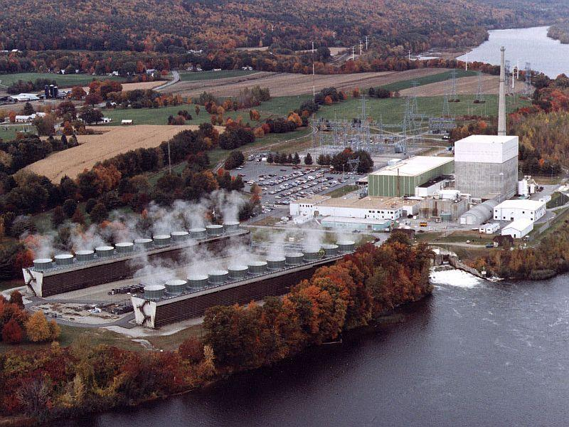 Undated aerial view of the Vermont Yankee power plant in Vernon.