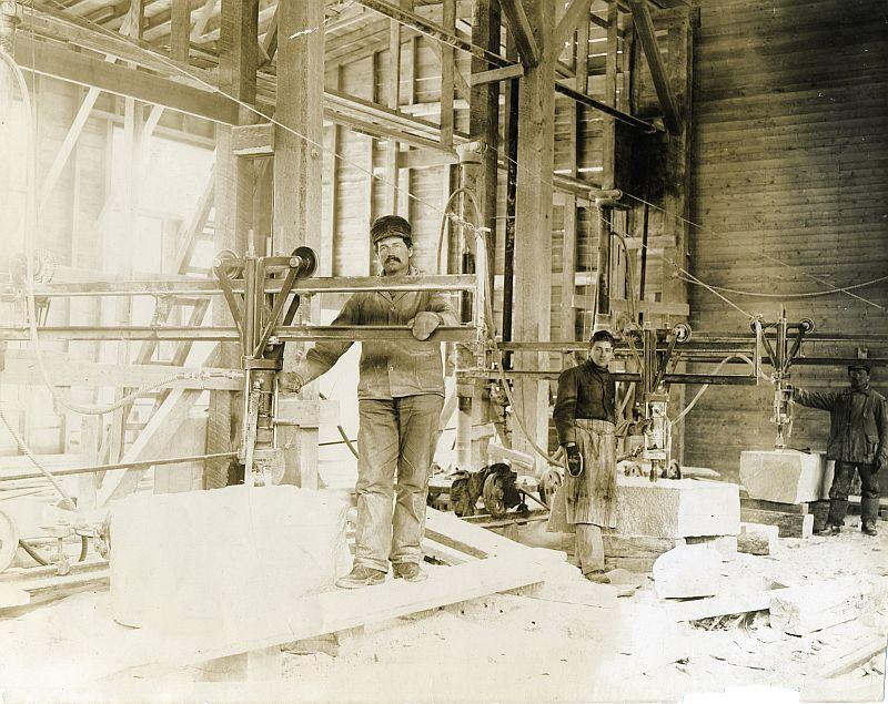 Barre granite workers circa 1900