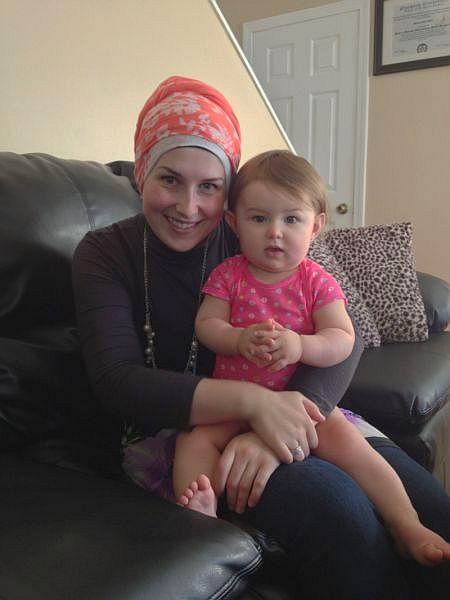 Sanela with her daughter, Medina