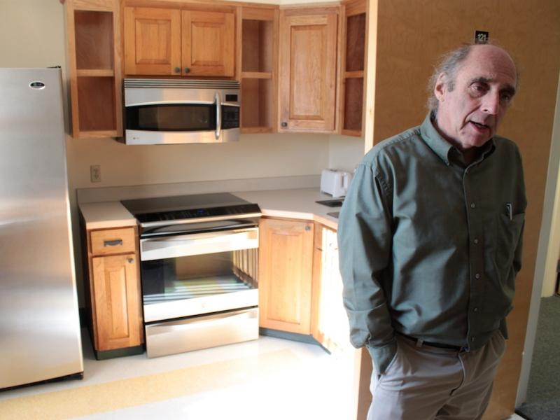 Bob Bick said that despite some pushback, the community is very supportive of HowardCenter. The staff kitchen's appliances were donated to HowardCenter when a local building no longer needed them.