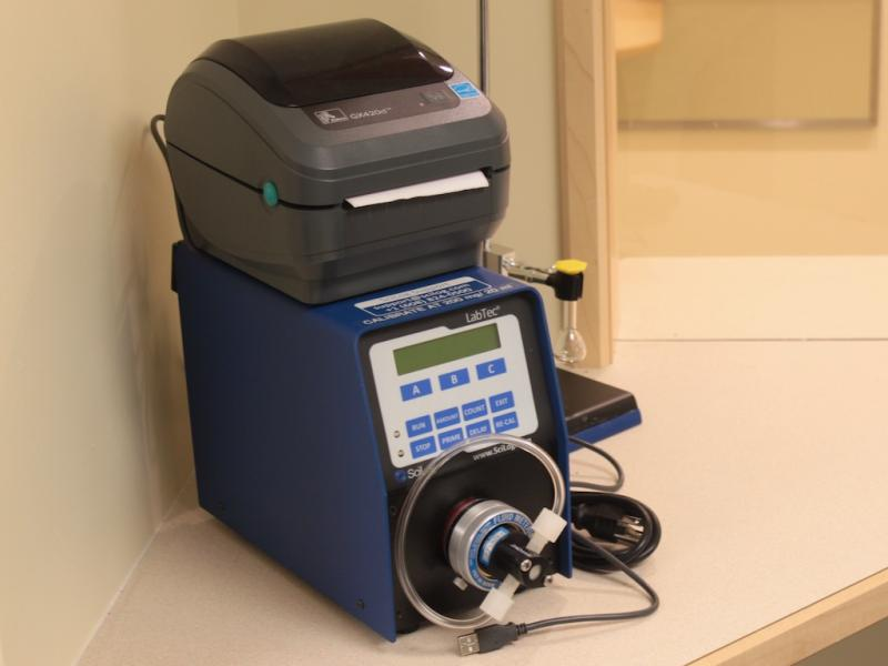 HowardCenter uses small, computerized dispensers to provide exact dosages of methadone or buprenorphine to patients.