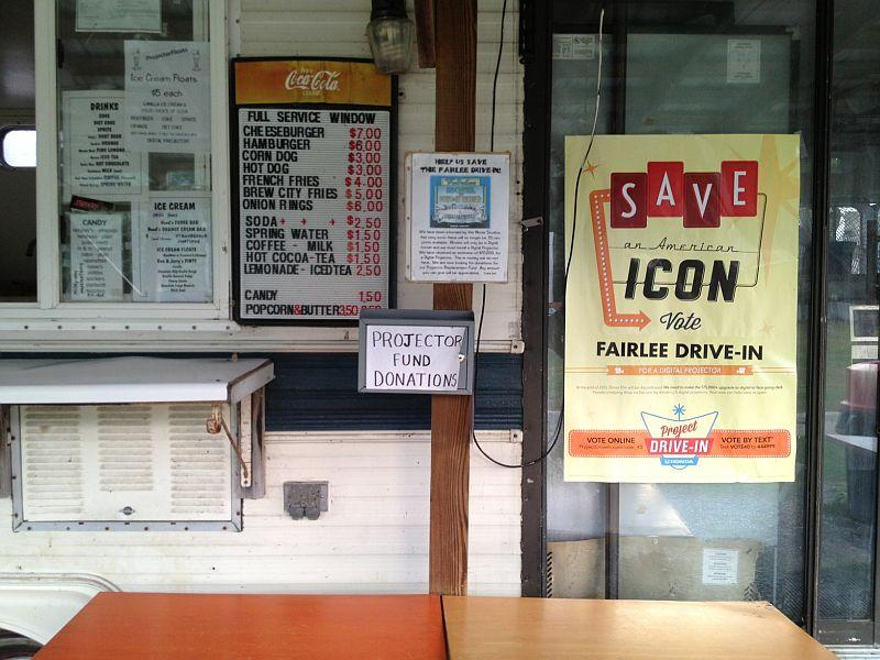 Visitors are urged to save Fairlee Drive-in at the snack bar.