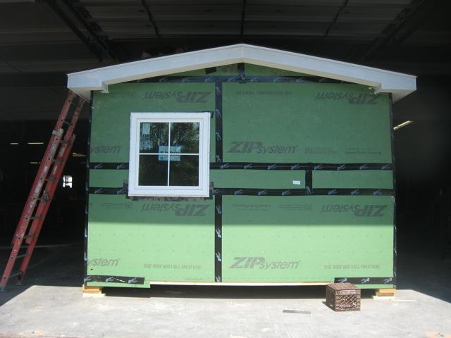 This is the first energy-efficient and flood-resistant mobile home being built as part of a pilot project in White River Junction.