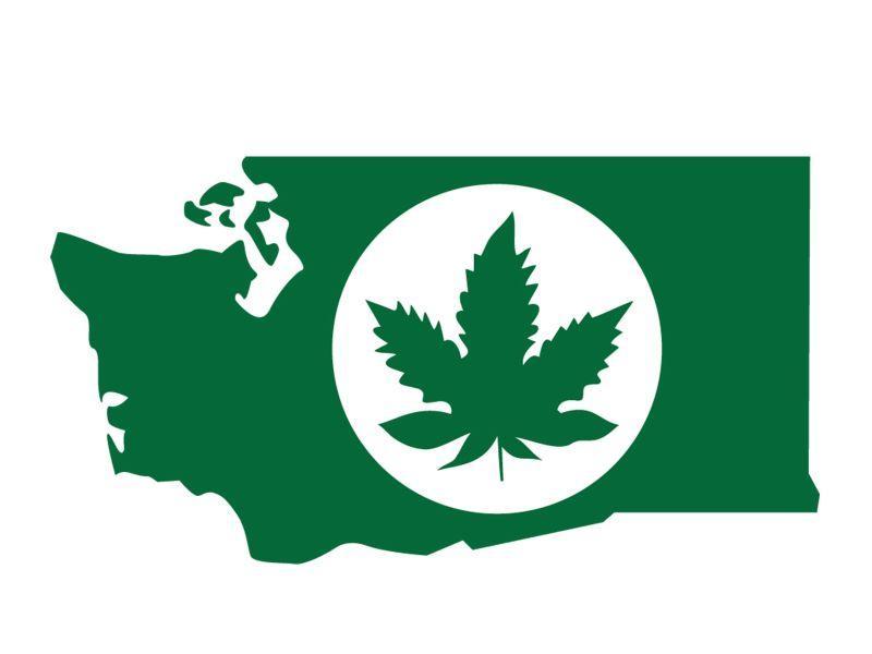A logo used to label legally produced marijuana in Washington