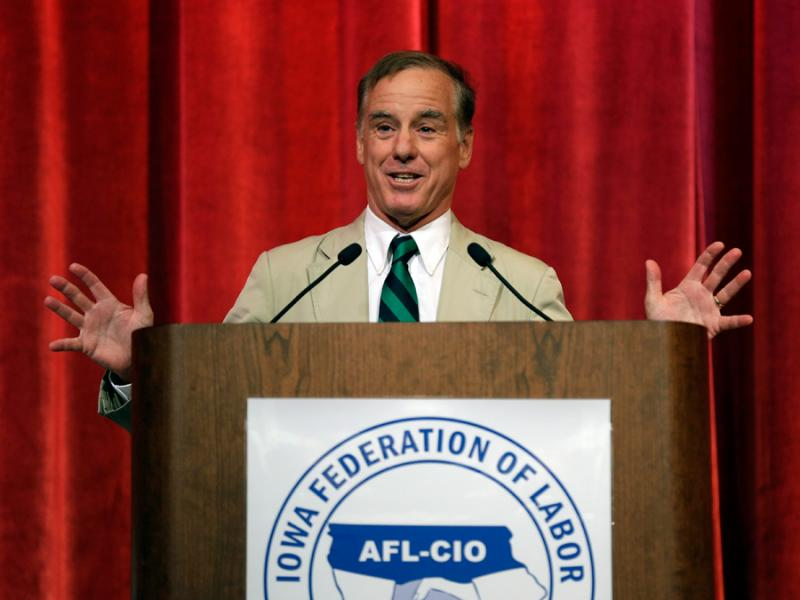 Former presidential candidate Howard Dean speaks during the Iowa Federation of Labor convention, Wednesday, Aug. 21, 2013, in Altoona, Iowa.