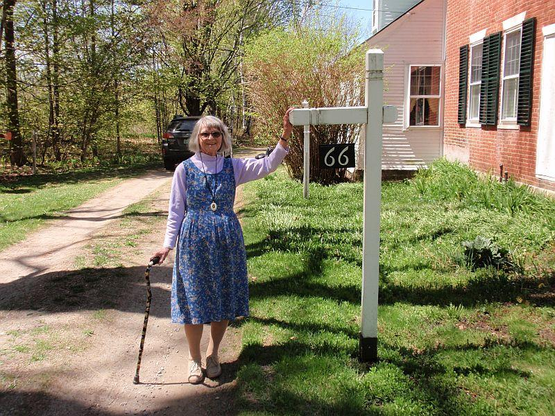 90-year-old Mim Herwig knows the history of the Randolph Center area very well.
