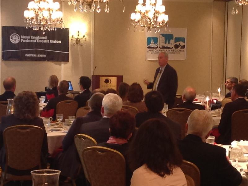 Eric Rosengren, President of the Federal Reserve Bank of Boston, speaking in South Burlington.