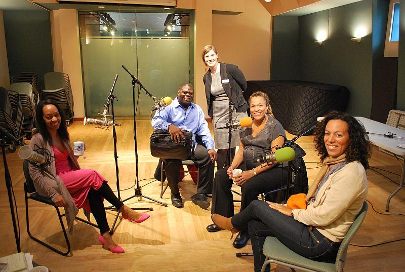Imani Winds in the studio with Kari Anderson