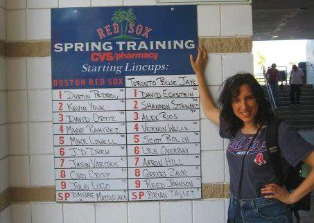 Karen Kevra at spring training