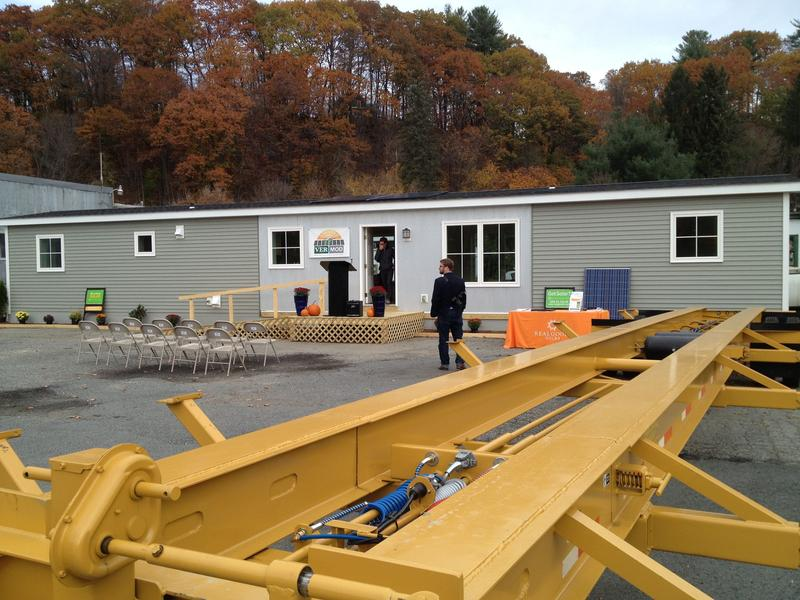 An energy-efficient mobile home opened for tours Wednesday at the White River Junction manufacturer, Vermod