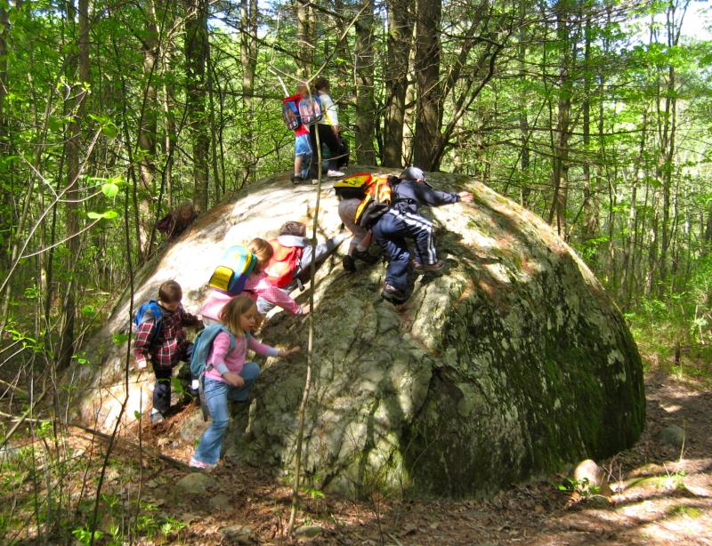Several years ago, teachers at Caverly began to use the extensive network of nearby trails as an outdoor classroom.