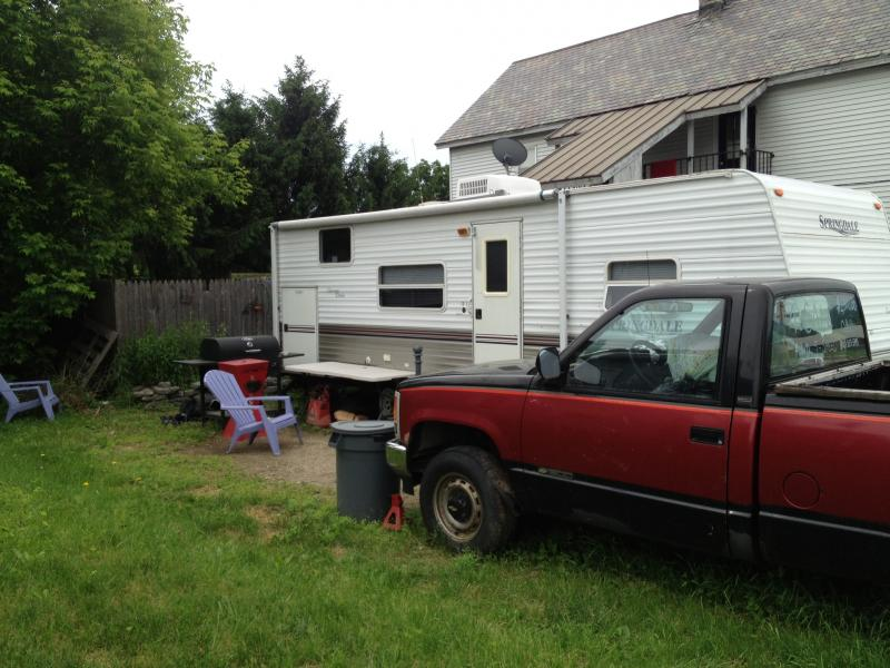 Neil and Patricia Whitney's home and camper in Rutland.