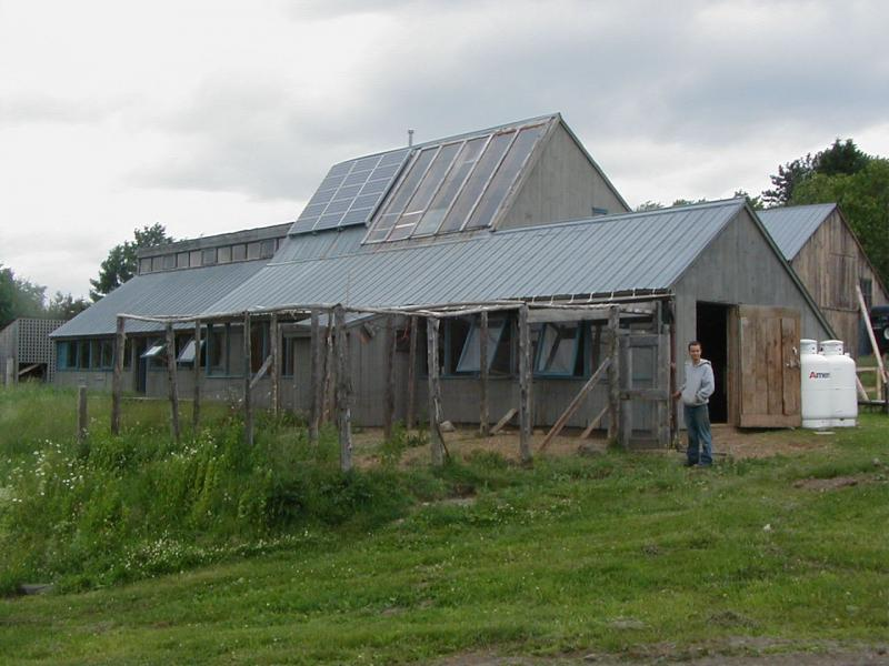 Solar panels on the barn at Sterling College.