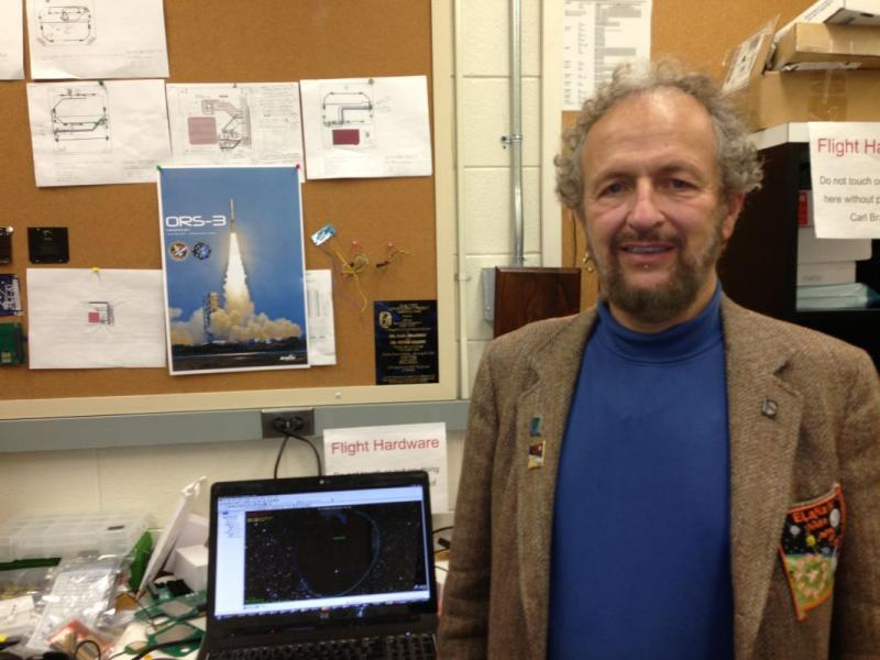 VTC professor Dr. Carl Brandon directs the college's CubeSat Lab