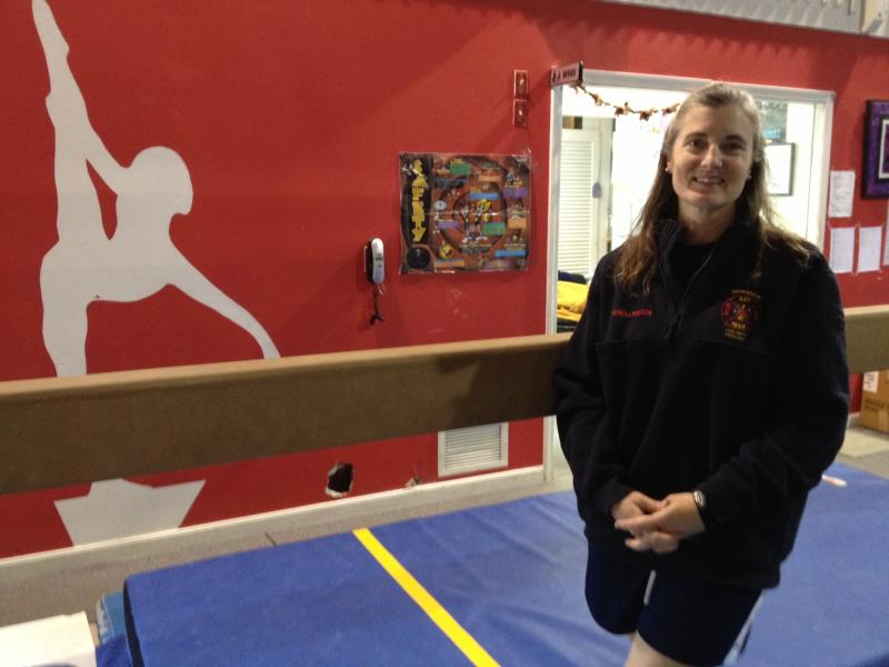 Theresa Poston, recent recruit to Norwich Fire Department, teaches gymnastics in Wilder.