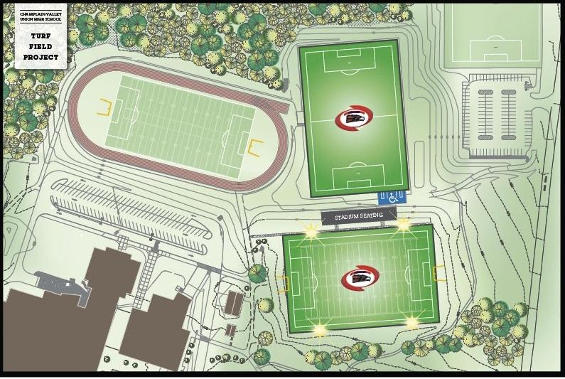 Proposed turf fields at CVU.