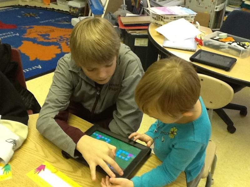 Kindergarteners at Roxbury Village School were among the Vermont students who spent time learning computer code this week.