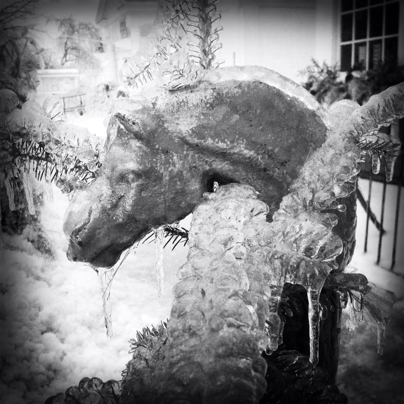 In Jeffersonville, it was a terrible and magical ice that turned animals to stone.