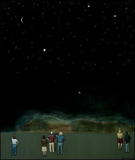 """""""Night Sky"""" by painter John Gemignani"""